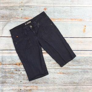 Hudson Dark Wash Bermuda Denim Shorts 29